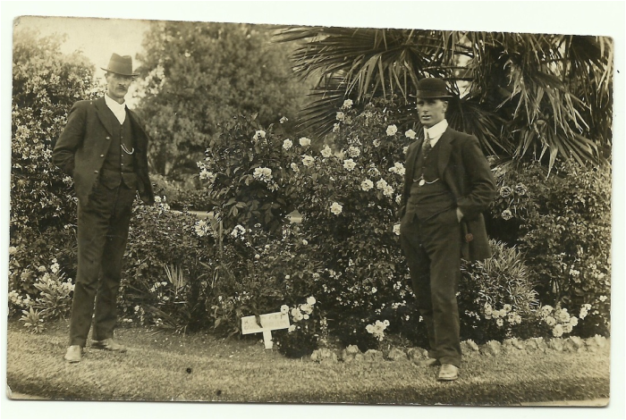 Gardener Harry Stitt and Curator Bill Crowe c1912. Image courtesy of Eileen Schelleman and Carl Tracey